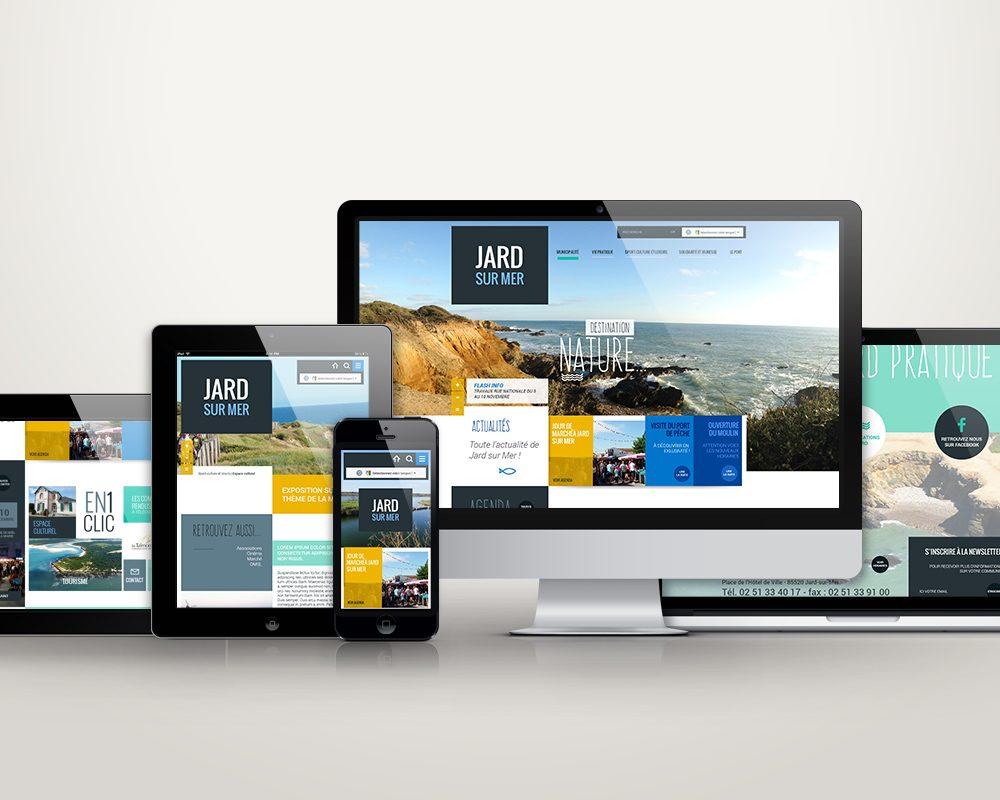 Création du site internet responsive de la ville de Jard sur Mer, en Vendée (85).